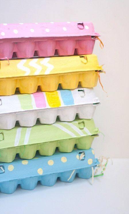 В коробках из-под яиц удобно хранить мелкие вещи