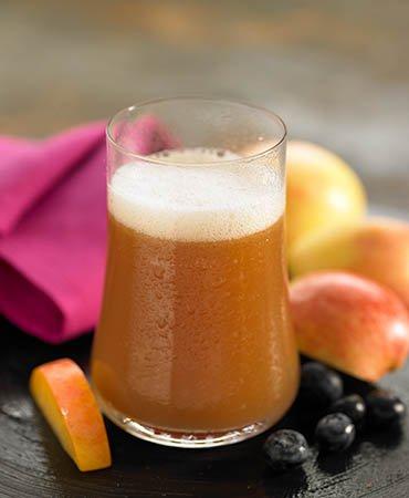 Воспаление печени и сок из яблока