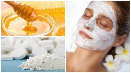 Натуральный эксфолиант из меда и аспирина, питающий кожу лица