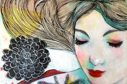 Женщина с цветами чьи усилия были напрасными