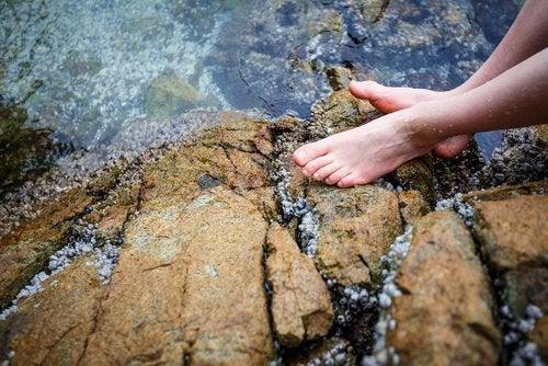 Холодная вода позволяет нормализовать кровообращение и оздоровить ноги