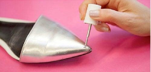 Лак для ногтей и обувь