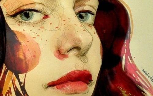 Иллюстрация и настоящая женщина