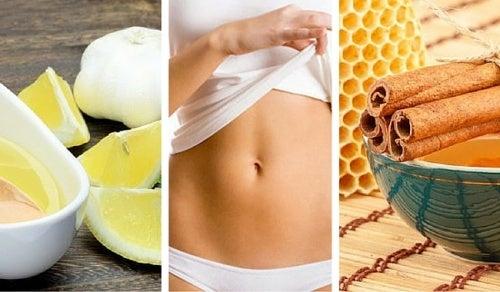 Натуральные напитки для борьбы с жиром на животе