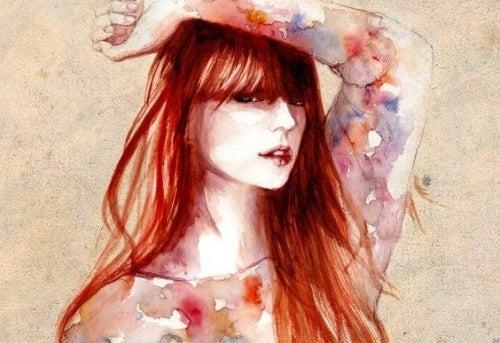Настоящая женщина с рыжими волосами