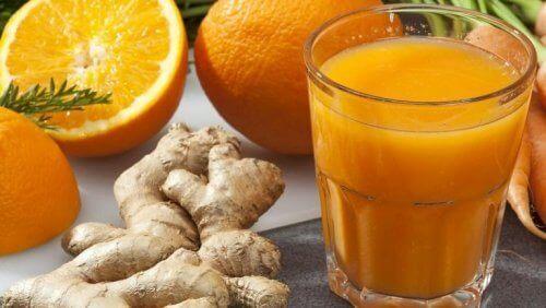 Апельсин и имбирь и очищение печени от токсинов