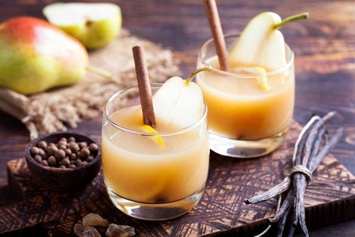 Груши и сок