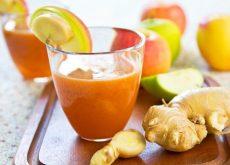 Смузи из моркови яблока и имбиря
