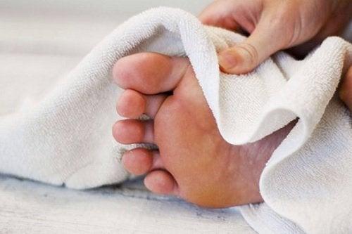 Сушите ноги