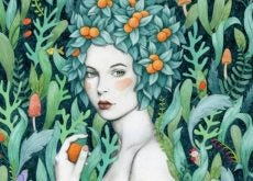 Женщина с фруктами в волосах и эмпатия