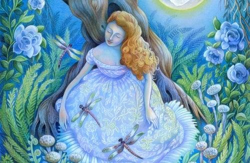 Женщина со стрекозами