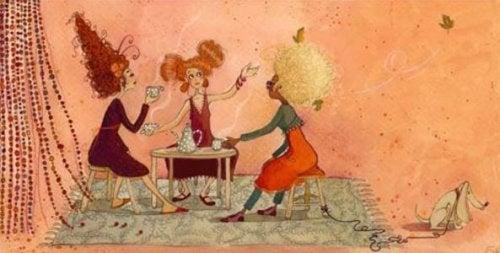 Подруги за кофе
