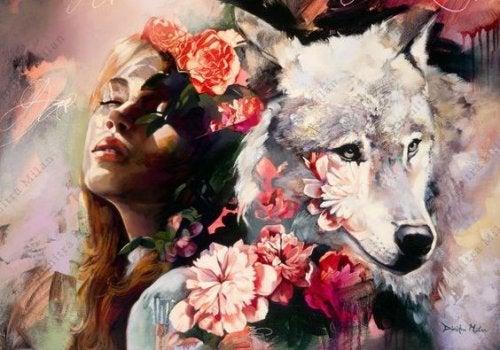 Женщина с волком и и люди с неотразимым обаянием
