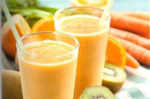 Апельсиновый сок и киви