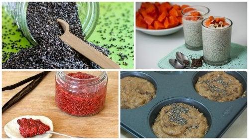 5 простых и полезных рецептов с добавлением семян чиа