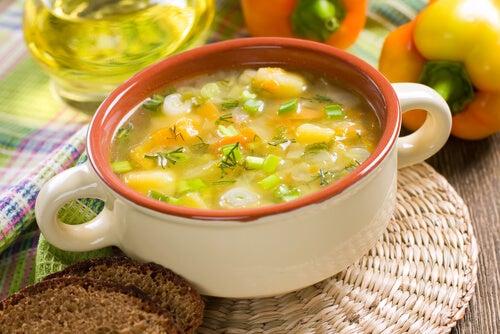 Овощной суп и голод