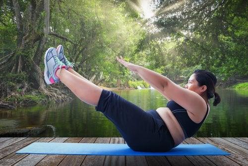 Упражнения и лишний вес