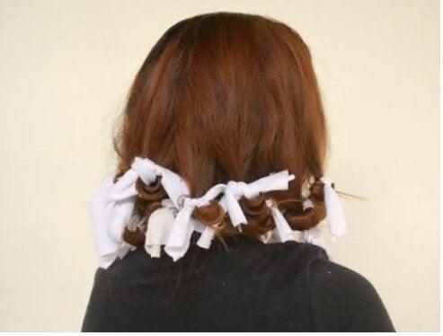 Лоскутки ткани для завивки волос
