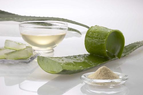 Маска с алоэ и зеленой глиной помогает избавиться от омертвевших частичек кожи