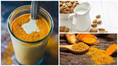 Как приготовить противовоспалительный напиток из куркумы и миндального молока