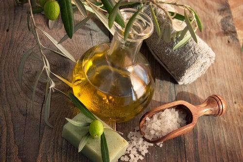 Оливковое масло и шрамы на коже