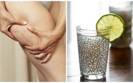 Целлюлит и напиток из льняного семени