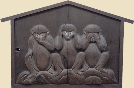 Притча о трех мудрых обезьянах