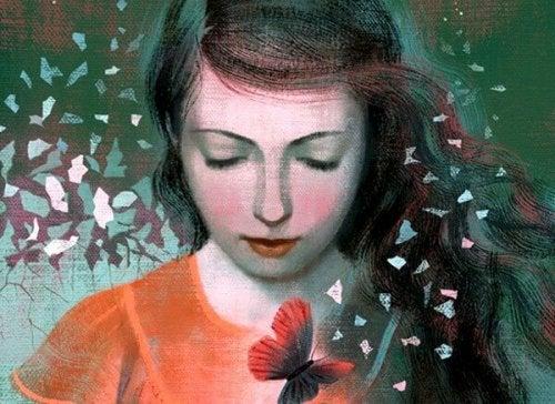 Женщина с бабочкой может быть счастливее