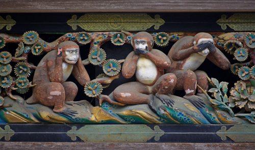 Притча о трех мудрых обезьянах, которая заставляет задуматься