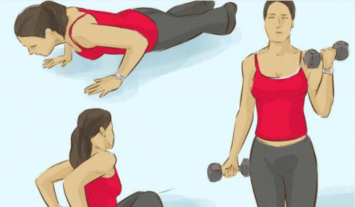 3 упражнения для укрепления мышц твоих рук и жир в области подмышек