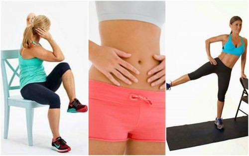 5 упражнений со стулом, которые помогут сжечь жир на животе