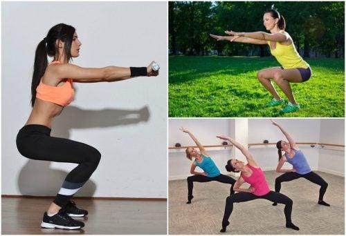 Основные виды приседаний для тренировки мышц ног
