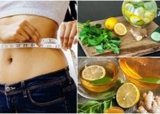 Бороться с воспалением и лишним весом помогает имбирь с лимоном