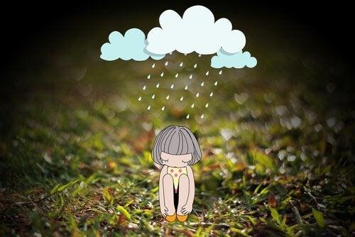 Кукла под дождем