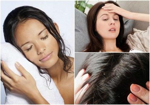 8 проблем со здоровьем, которые могут возникнуть, если спать с мокрыми волосами