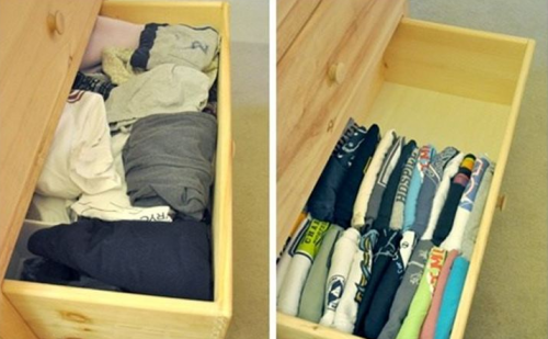 Укладывать рубашки и порядок в доме