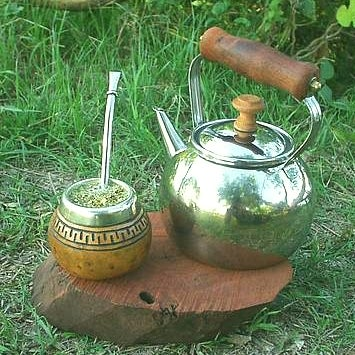 Чай мате и чайник
