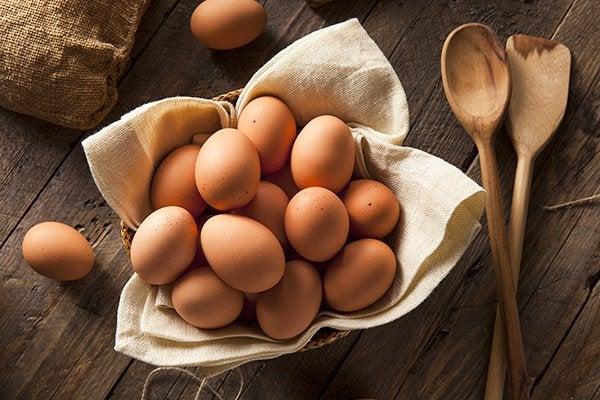 Свежие яйца не испортились