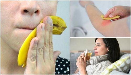 Банановая кожура и 8 интересных способов ее использования!