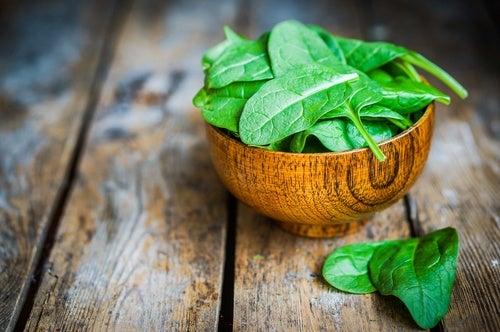 Шпинат и растительные белки