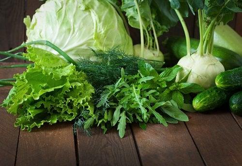 Зелёные овощи незаменимые здоровые продукты