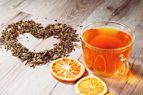 Апельсиновая кожура и чай