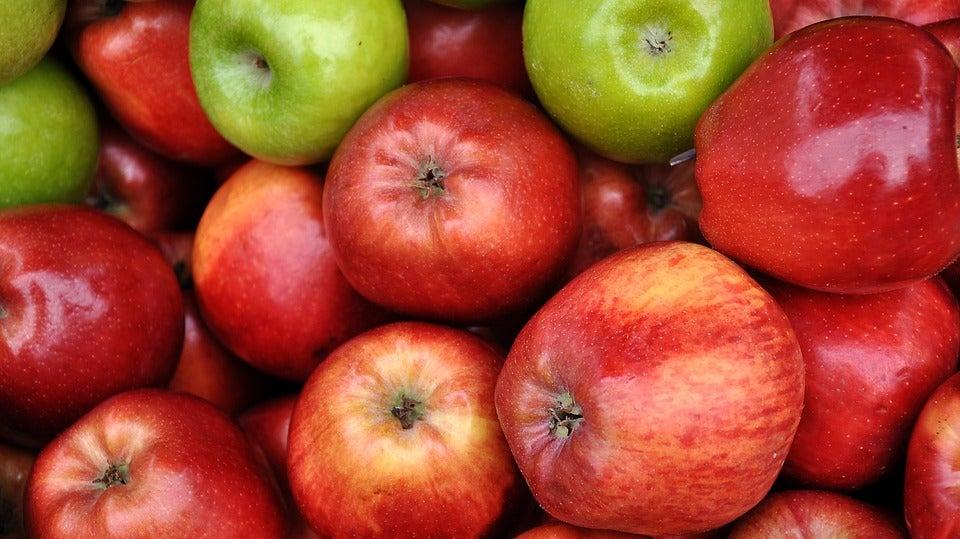 Яблоки против темных кругов
