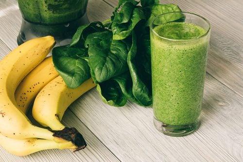 Банан и шпинат помогут если у вас дряблая кожа
