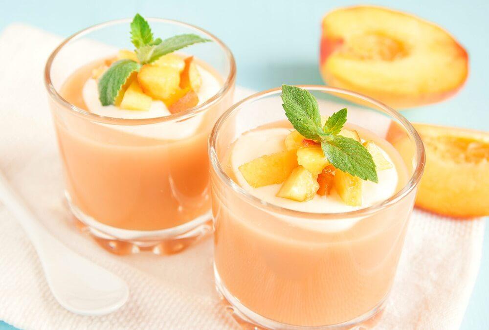 Смузи на завтрак из персика