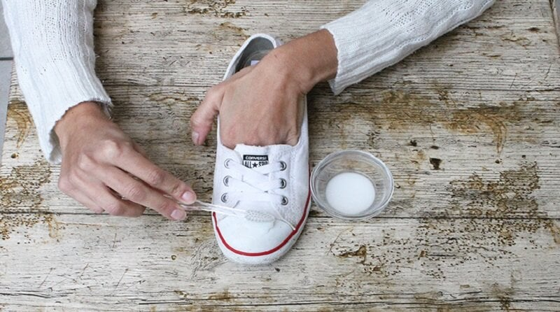 Обувь и сода