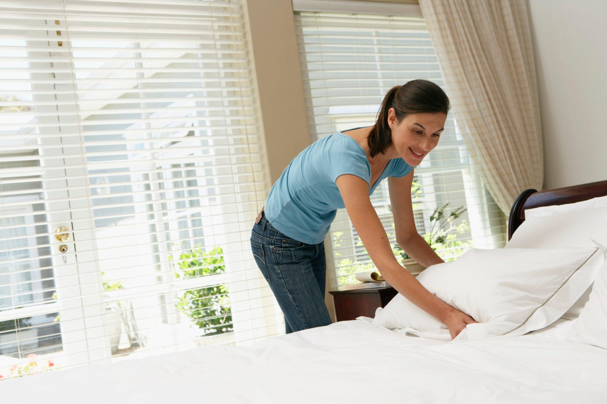 Кровать в чистоте