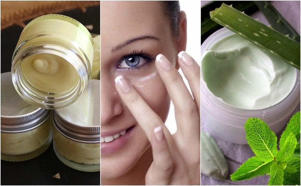 5 натуральных кремов для кожи вокруг глаз!