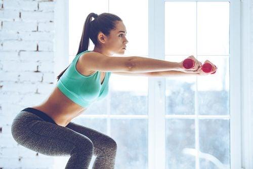 Приседания и упражнения