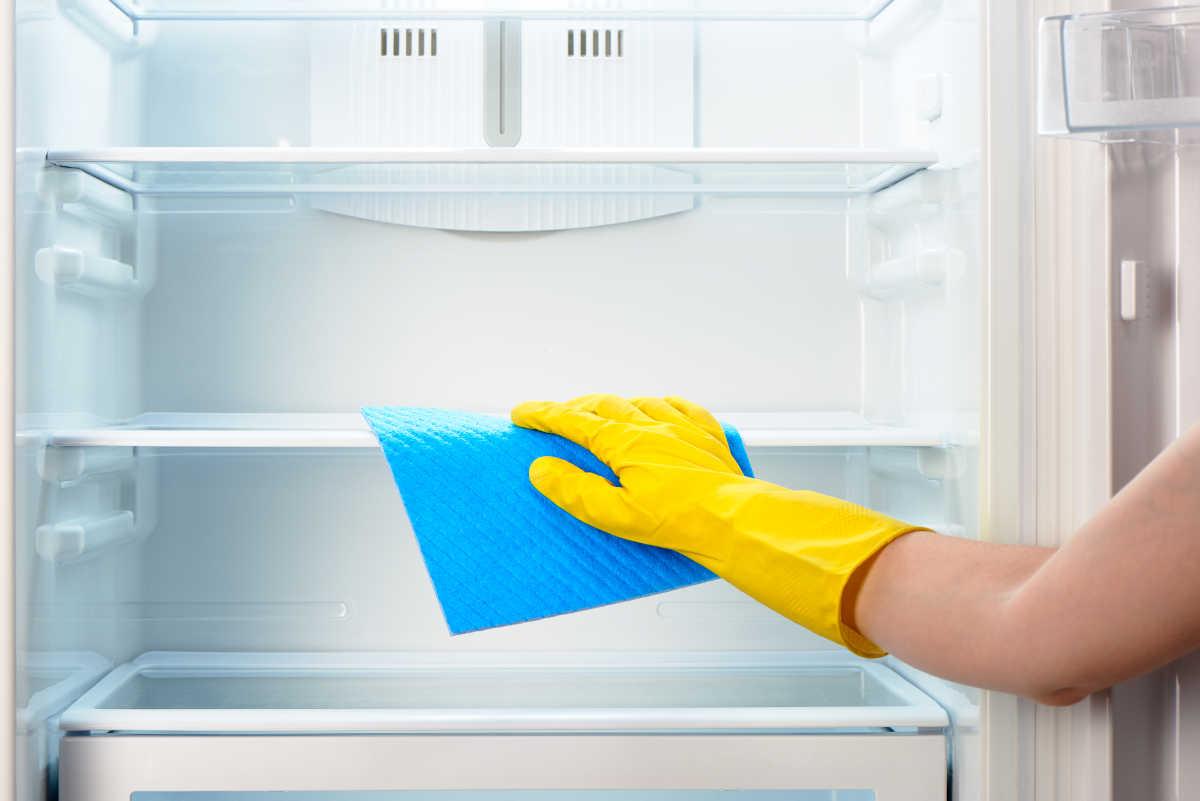 Очищай холодильник чтобы избавиться от неприятного запаха на кухне
